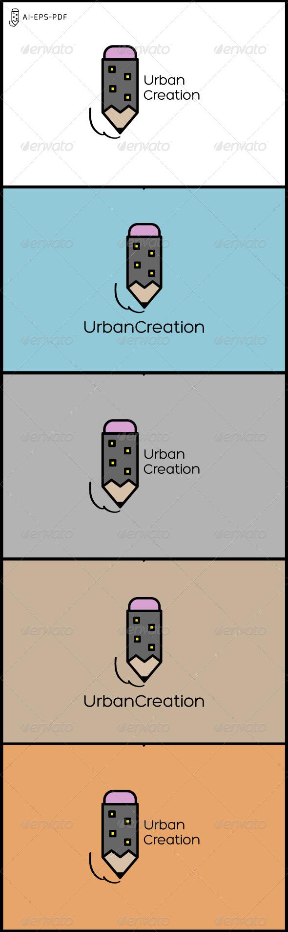 Urban Creation City Logo - Logo Templates