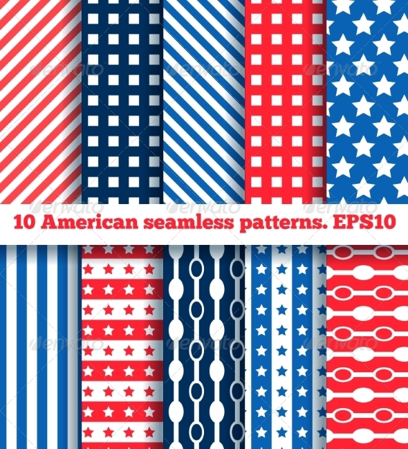10 American Seamless Patterns - Patterns Backgrounds