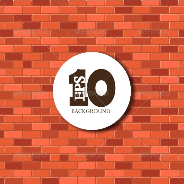 Vector Red Brick Background EPS 10 - Backgrounds Decorative