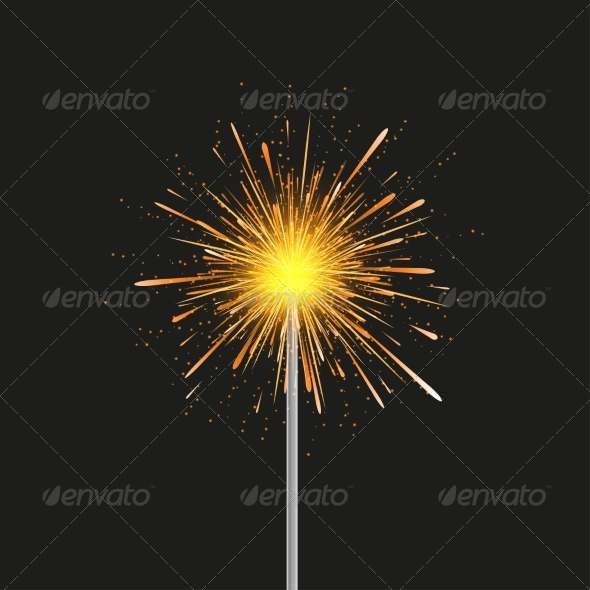 Sparkler modern Background - Christmas Seasons/Holidays