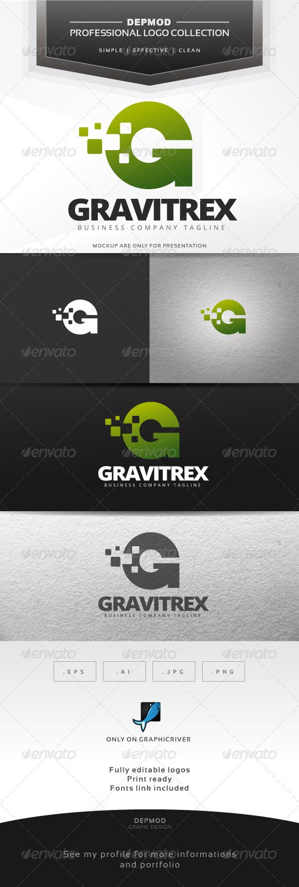 Gravitrex Logo - Letters Logo Templates
