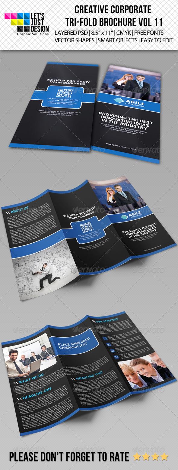 Creative Corporate Tri-Fold Brochure Vol 11 - Corporate Brochures
