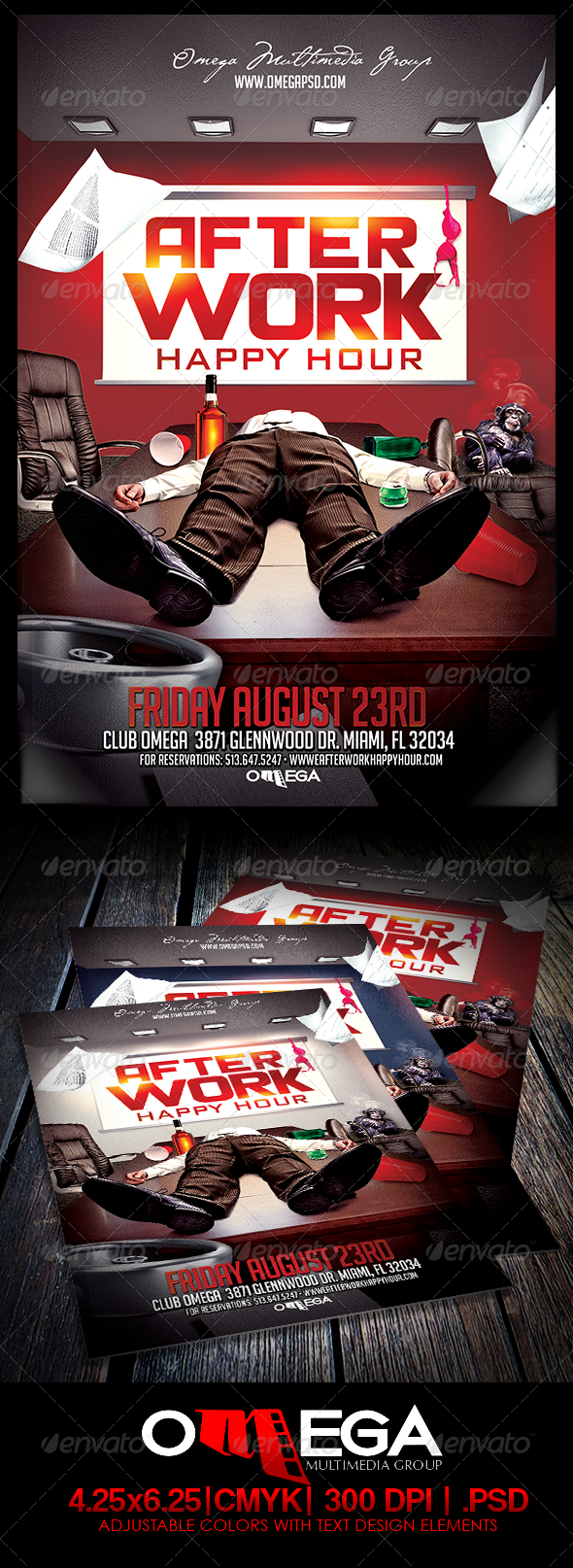 Afterwork Happy Hour - Events Flyers