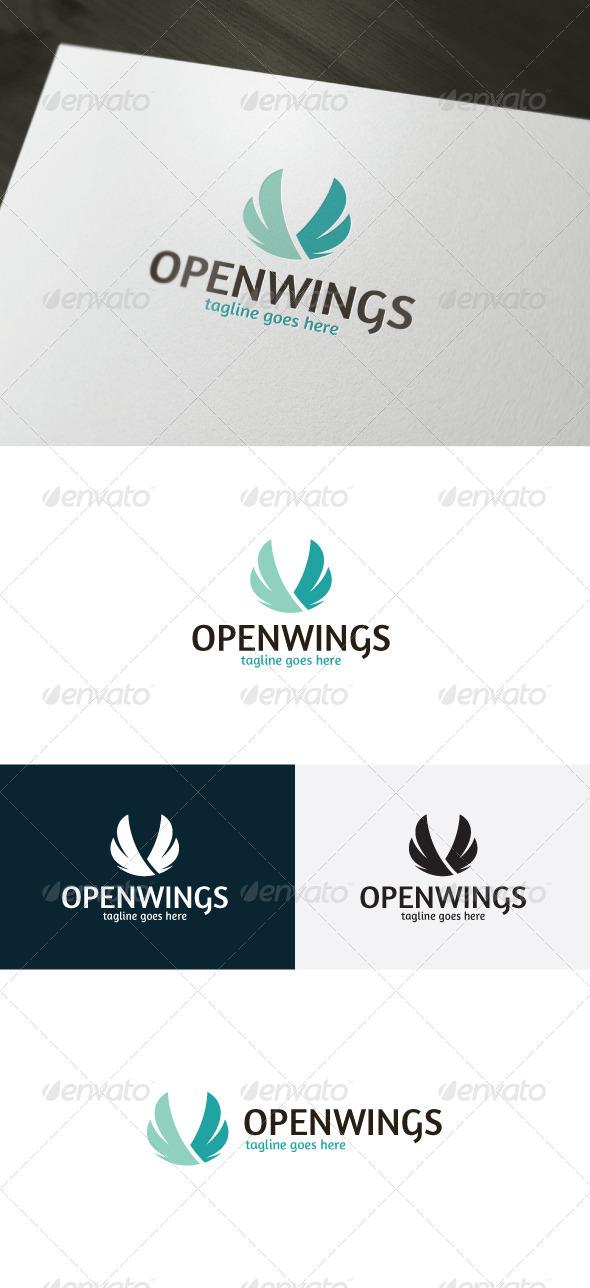 Open Wings Logo - Vector Abstract