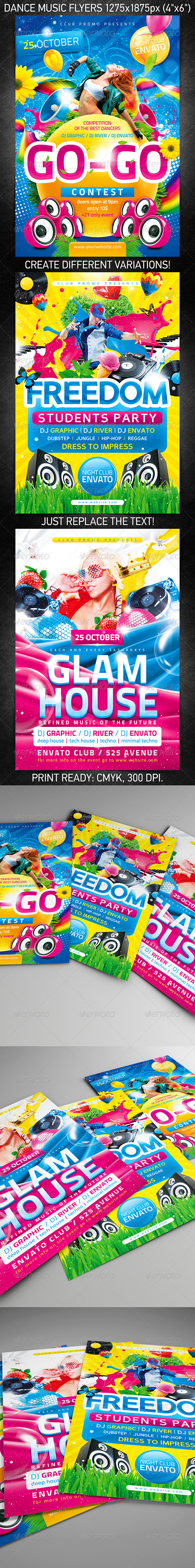 Dance Music Flyer Bundle - Clubs & Parties Events
