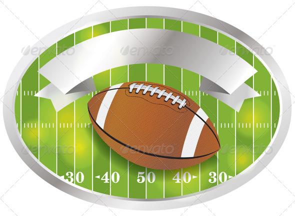 American Football Emblem and Badge - Sports/Activity Conceptual