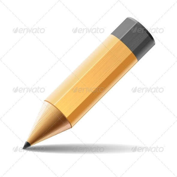 Pencil Isolated on White Background - Concepts Business