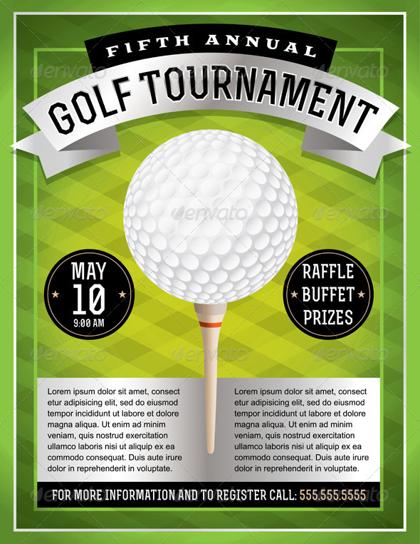 Golf tournament flyer by enterlinedesign graphicriver for Golf tournament program template