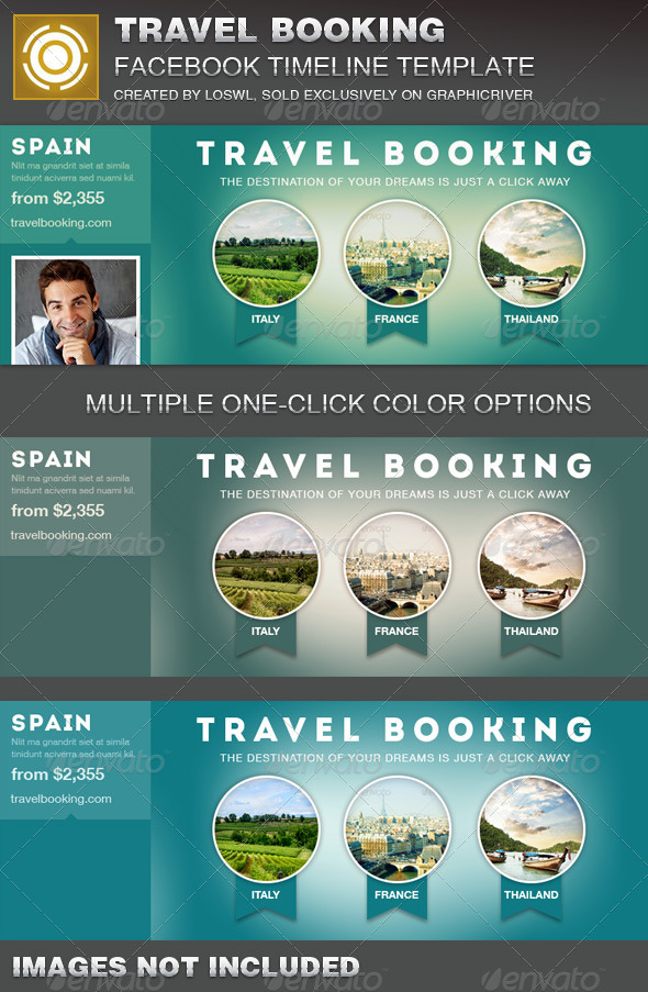 Travel Booking Facebook Timeline Cover Template - Facebook Timeline Covers Social Media