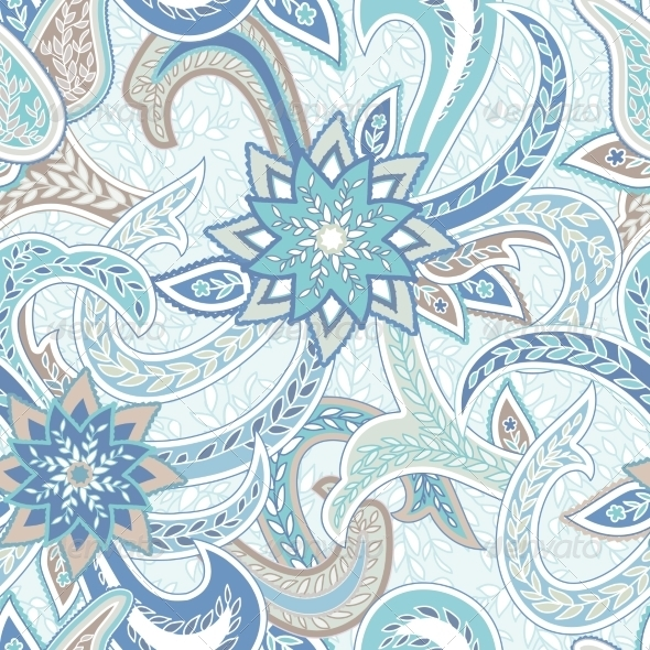 Paisley Colorful Seamless Background - Patterns Decorative