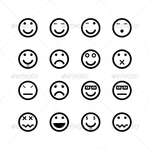 Icons of Smiley Faces - Miscellaneous Icons