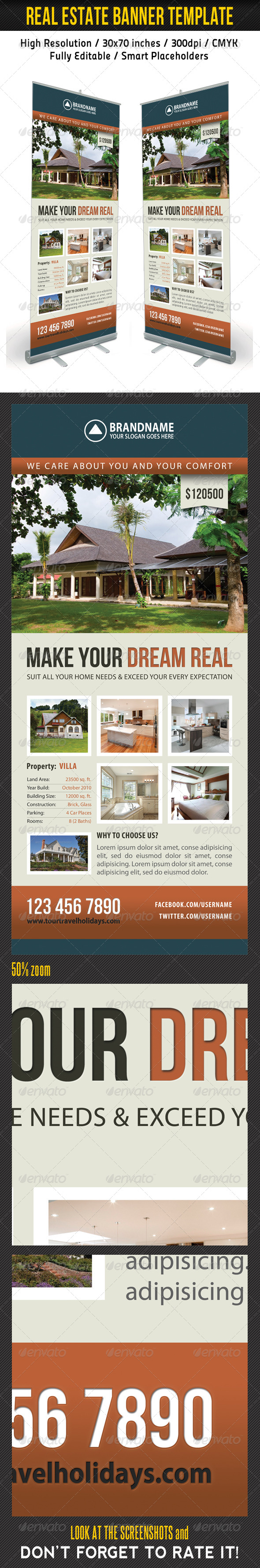 Real Estate Banner Template 06 - Signage Print Templates