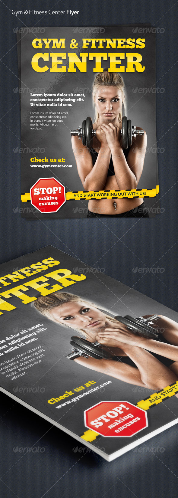 Gym & Fitness Center A4 Flyer - Sports Events