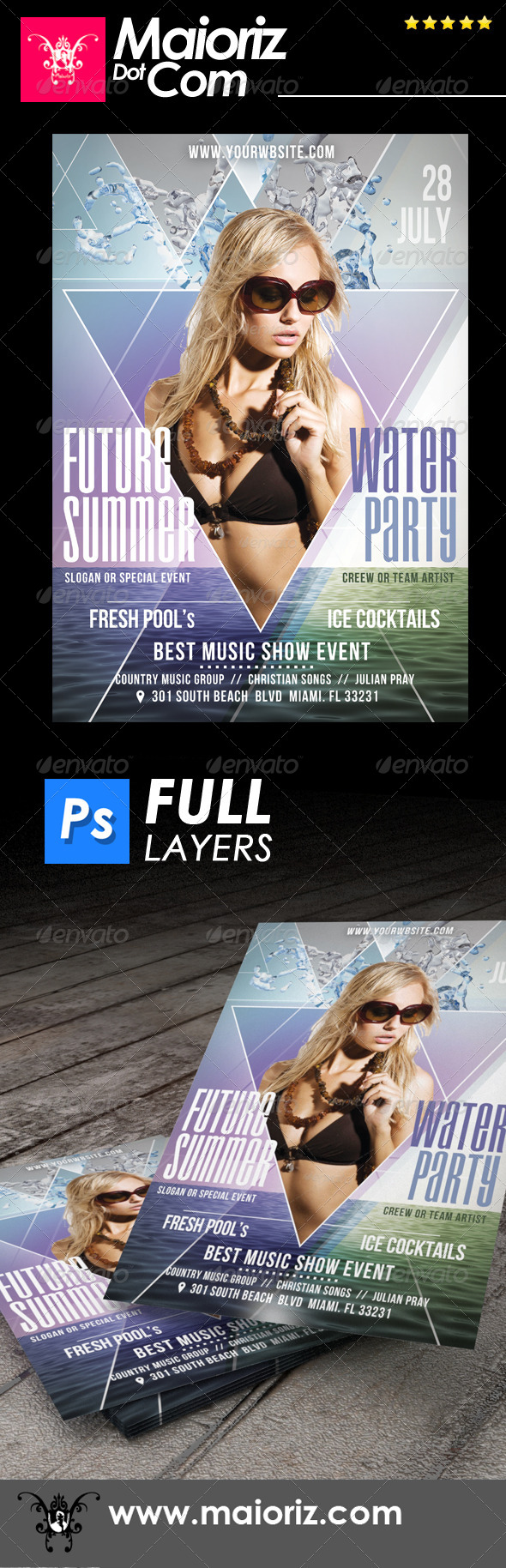 Futuristic Summer Flyer - Clubs & Parties Events