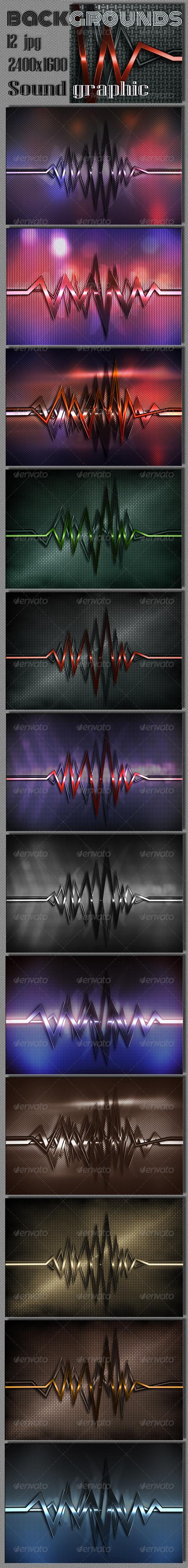Sound Graphics Metal Background - Tech / Futuristic Backgrounds