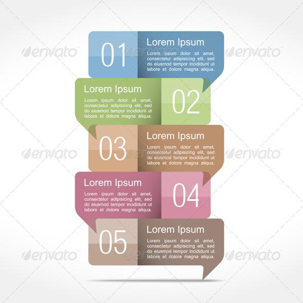 Design Template with Speech Bubbles - Miscellaneous Vectors