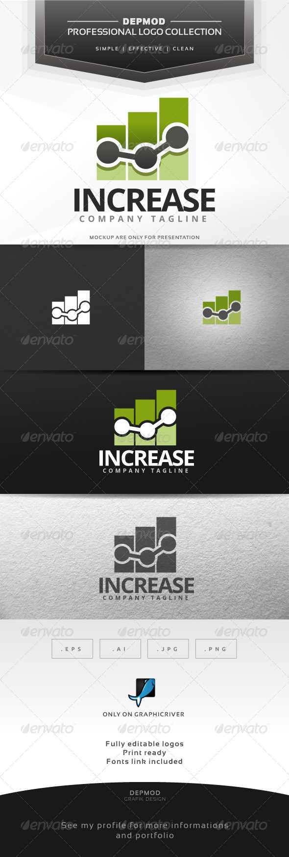 Increase Logo - Symbols Logo Templates