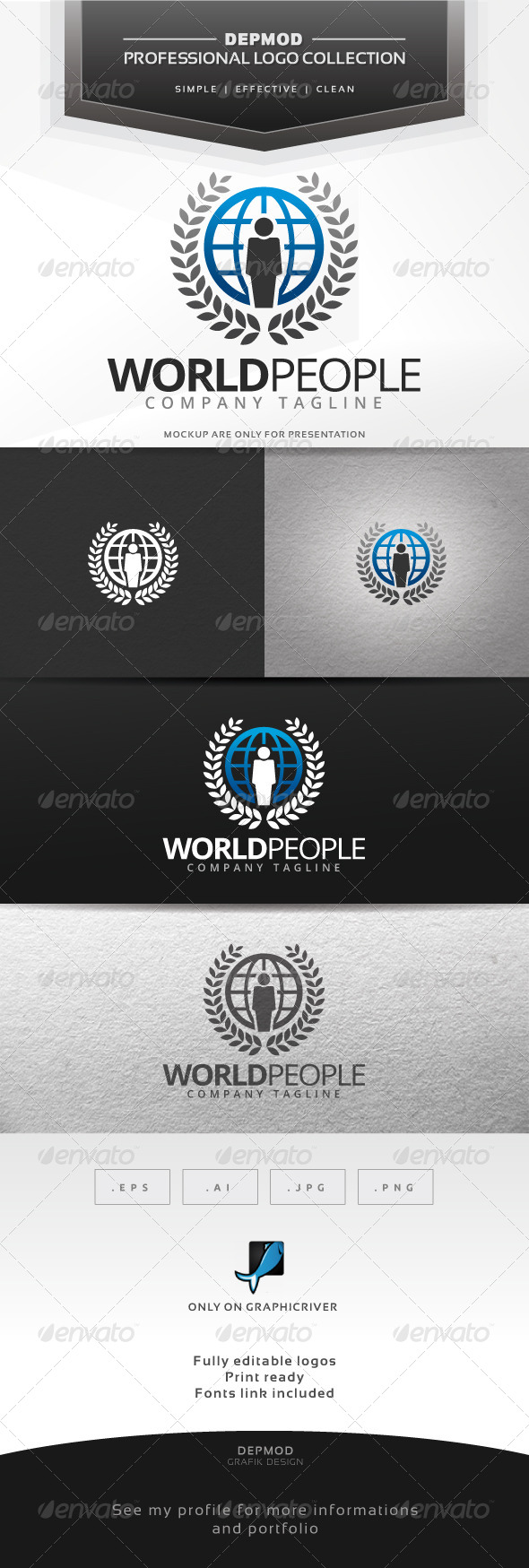 World People Logo - Symbols Logo Templates