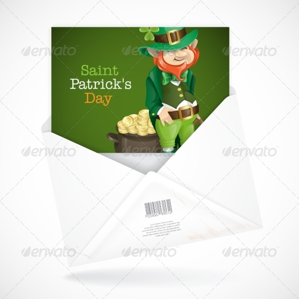 St. Patrick's Day Leprechaun with Pot of Gold - Miscellaneous Seasons/Holidays