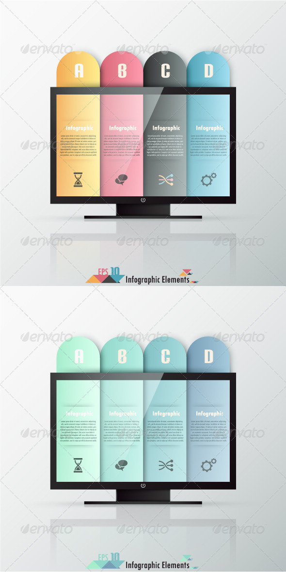 Modern Infographics Options Banner (Two Versions) - Infographics