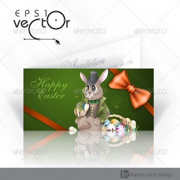 The Easter Bunny With A Basket - Miscellaneous Seasons/Holidays