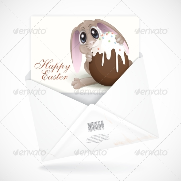 Easter Bunny with Chocolate Egg - Miscellaneous Seasons/Holidays