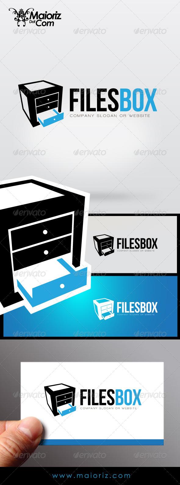 Files Box Logo - Objects Logo Templates