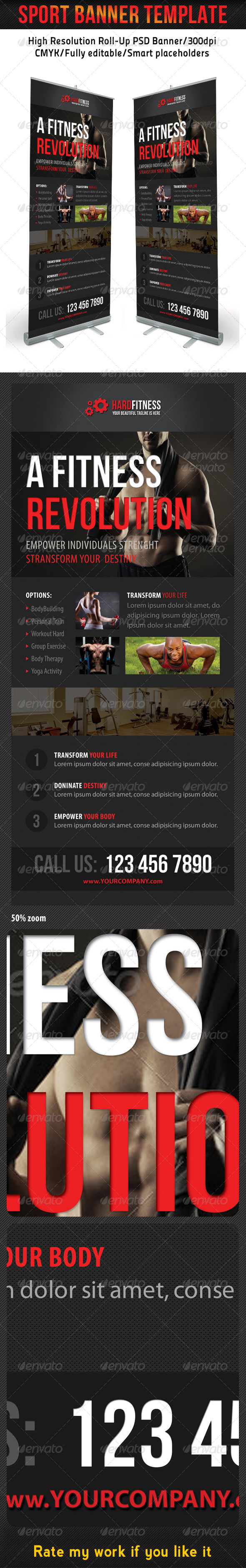 Sport Banner Template 16 - Signage Print Templates