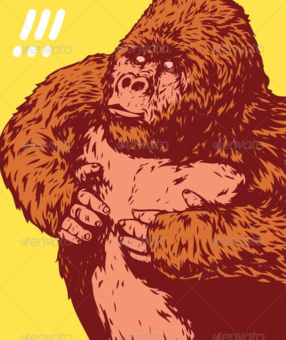 King Kong Gorilla - Animals Characters