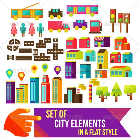 Set of City Infographics - Travel Conceptual