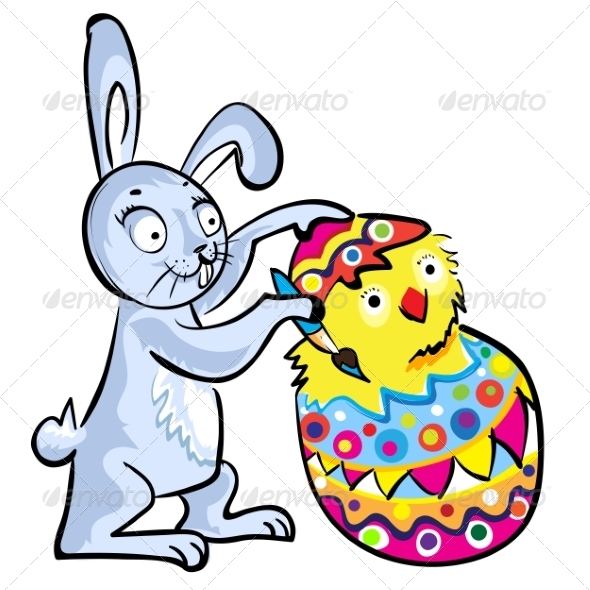 Cartoon Easter bunny - Animals Characters