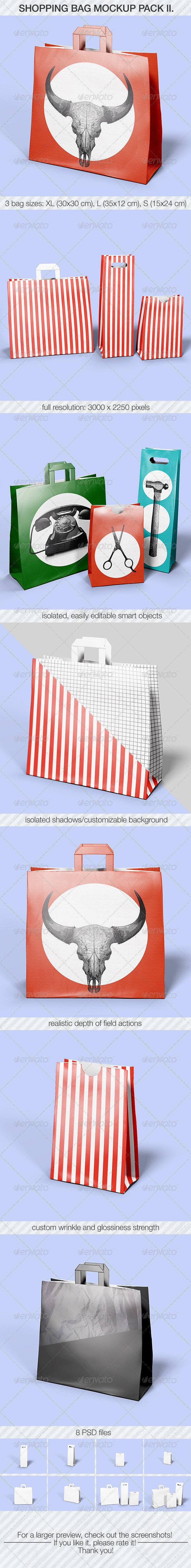 Shopping Bag Mockup Pack II - Miscellaneous Product Mock-Ups
