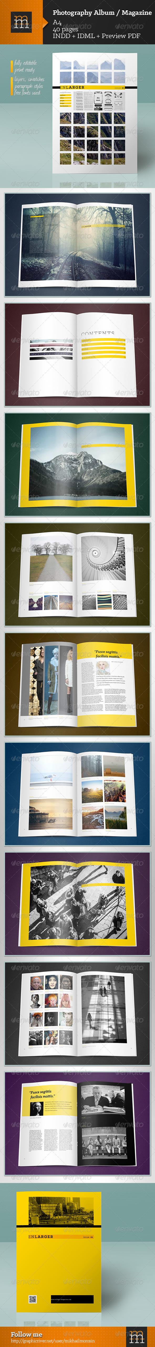 Photography Album / Magazine - Photo Albums Print Templates