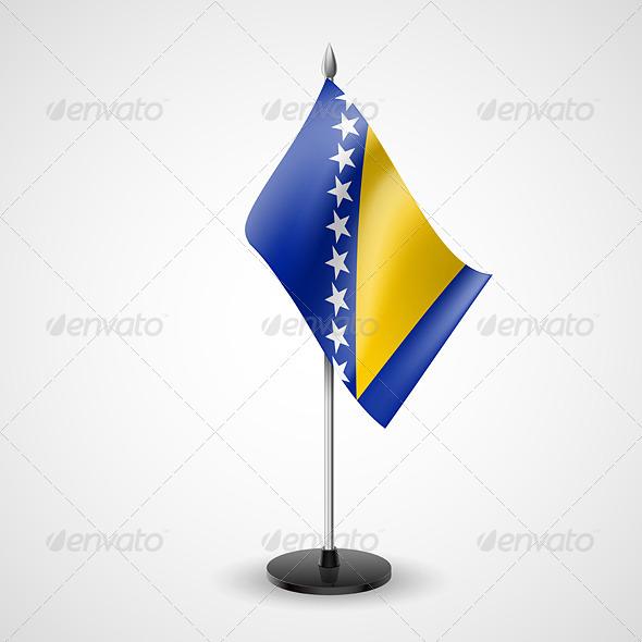 Table Flag of Bosnia and Herzegovina - Miscellaneous Vectors