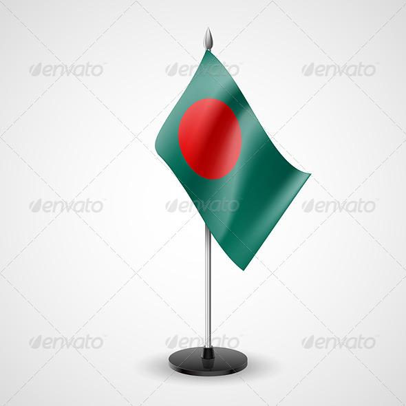 Table Flag of Bangladesh - Miscellaneous Vectors