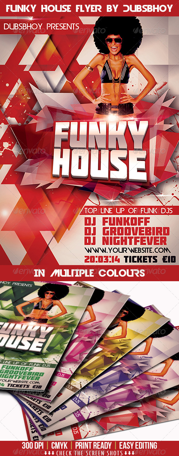Funky House Flyer - Flyers Print Templates