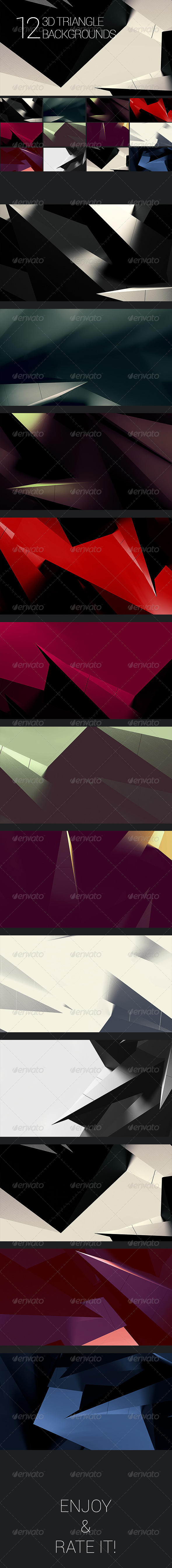 3D Polygon Backgrounds - Abstract Set 2 - Abstract Backgrounds