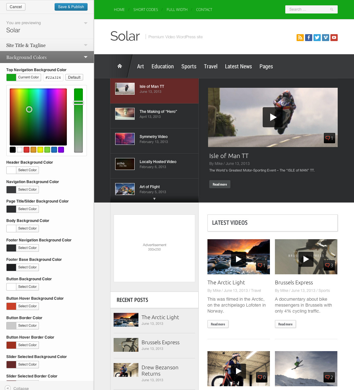 solar video wordpress theme by progressionstudios themeforest