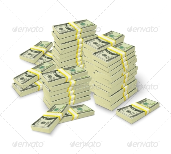 Money Stacks Banknotes Pile Concept - Concepts Business