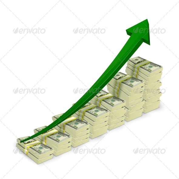 Money Banknotes Stacks Rising Graph - Concepts Business