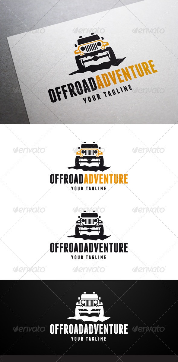 Offroad Adventure Logo - Objects Logo Templates