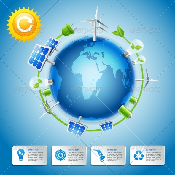 Green Energy and Power Concept - Industries Business