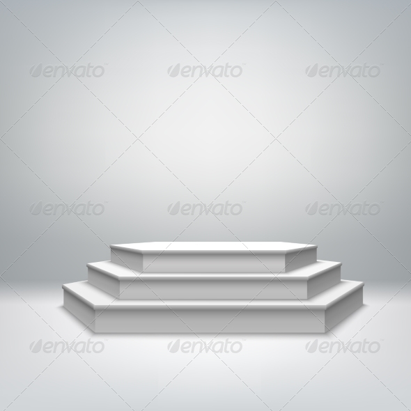 Blank White Stage Podium - Man-made Objects Objects