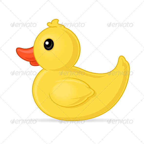 Rubber Duck - Objects Vectors