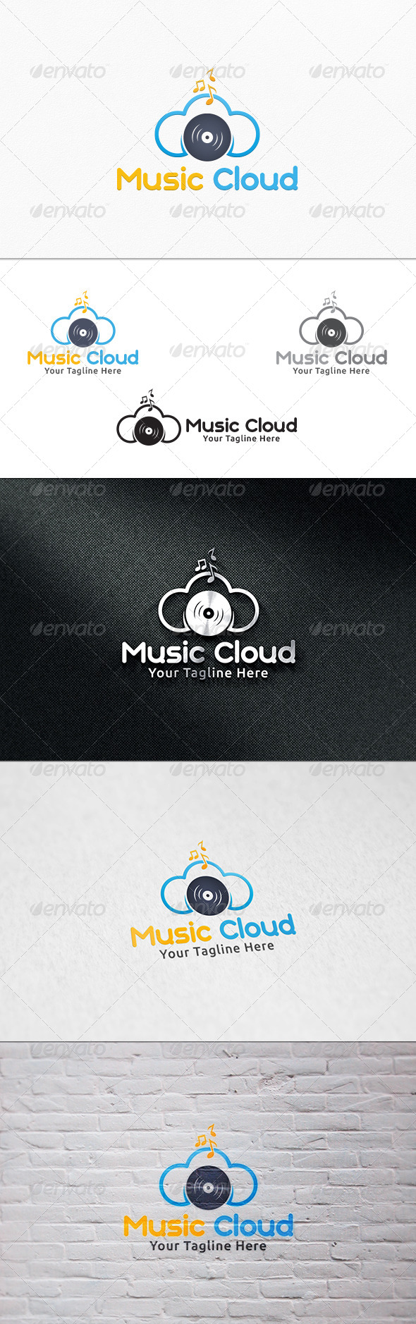 Music Cloud - Logo Template - Symbols Logo Templates