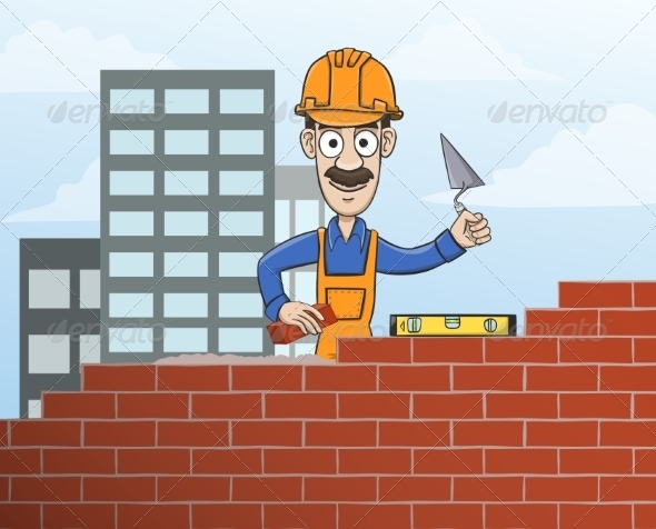 Mason Building Red Brick Wall - Industries Business