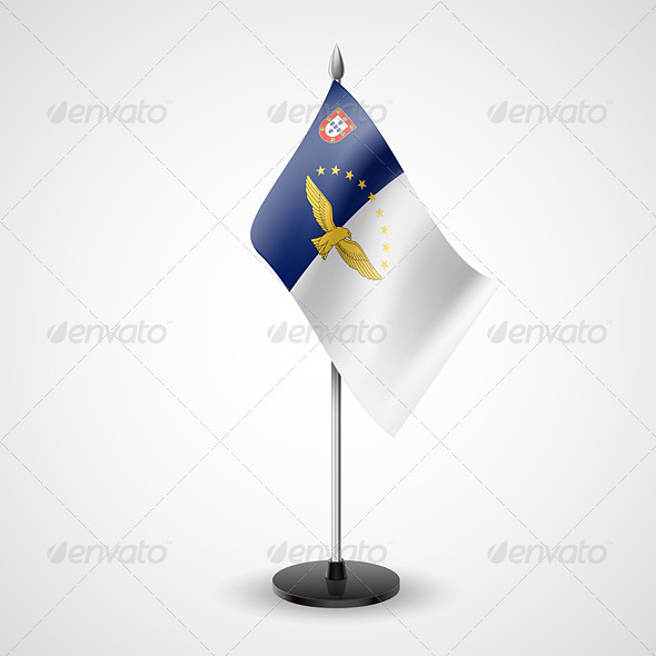 Table Flag of Azores - Miscellaneous Vectors