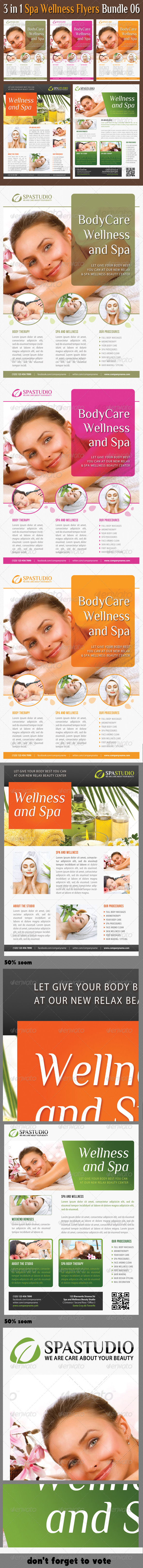 3 in 1 Spa Wellness Flyers Bundle 06 - Events Flyers