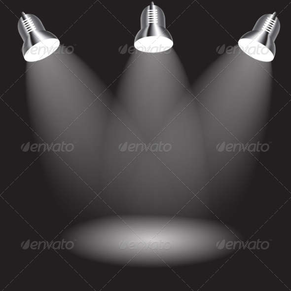 Background with Lighting Lamp. Empty Space for You - Web Technology