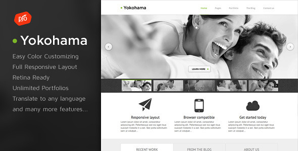 Yokohama - Corporate & Portfolio Theme